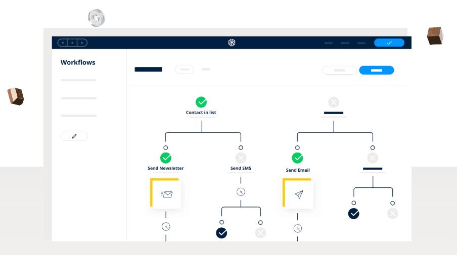 workflows d'automatisation sur sendinblue.