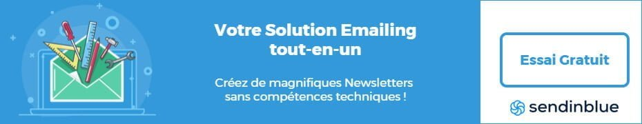 Solution emailing Bannière sendinblue