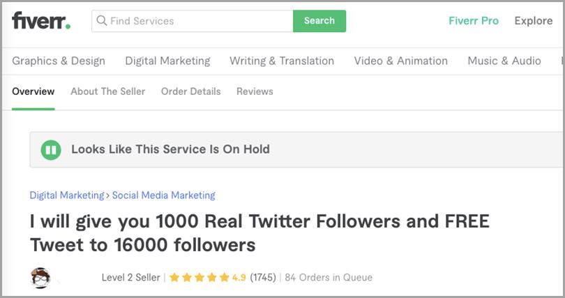 Fiverr-Sell-Fake Followers